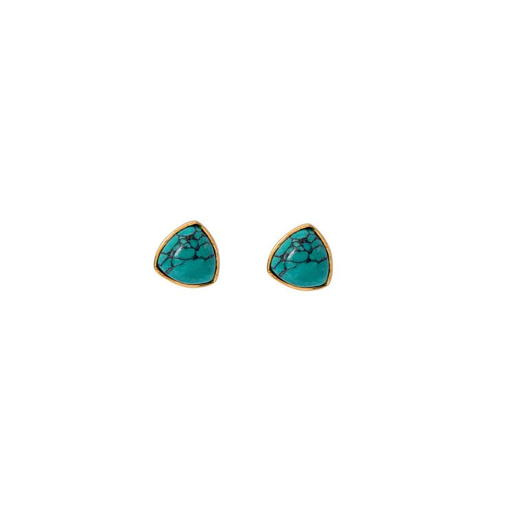 Talitha Stud / Turquoise from D A M S E L F L Y