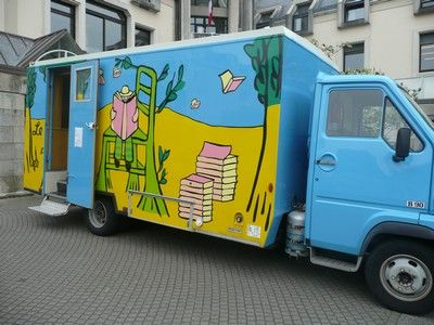 Bookmobile, Concarneau, France.: Mobile Libraries, Mobiles Libraries