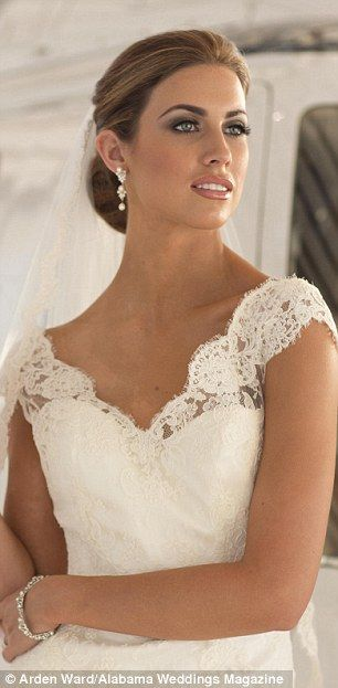 Katherine Webb in a beautiful Judd Waddell lace gown