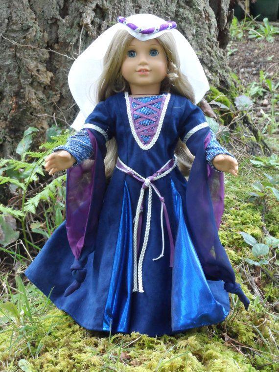 Tenue médiévale pour votre fille américaine de « Carmelinacreations »
