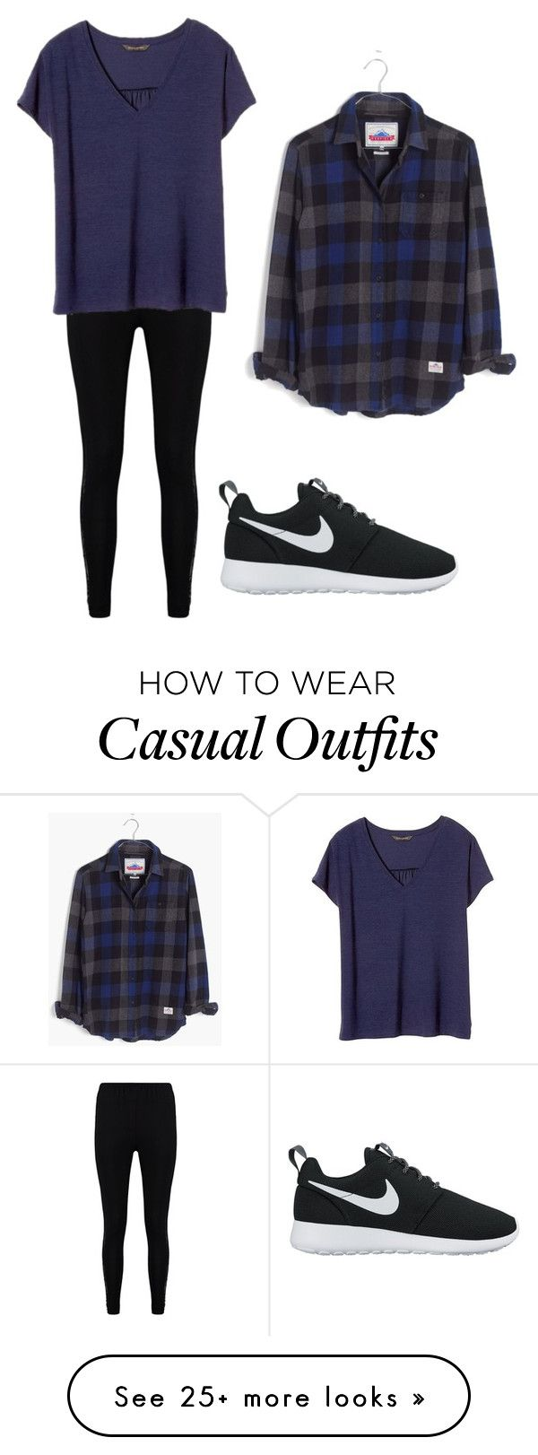 Casual by kesnel on Polyvore featuring Boohoo, Banana Republic, Madewell and NIKE
