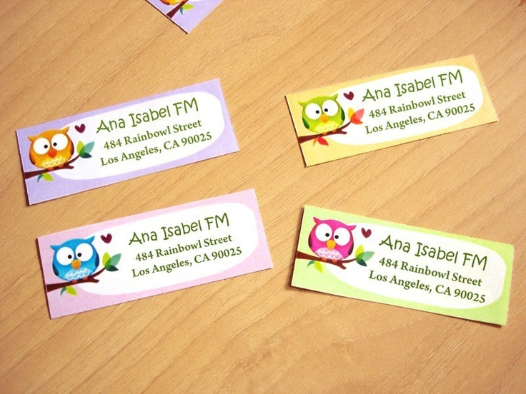 Personalized Return address labels -Rainbowls- Set of 28. $7.50, via Etsy.