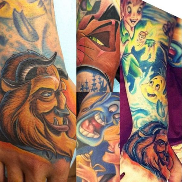 Oh, that's so cool. I love seeing disney tattoos. They make me happy. :)