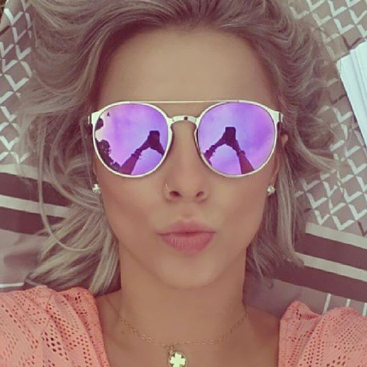"🕶️ Beautiful Round Mirror Pink Purple Sunglasses! 🌸 Super sale 15% extra discount on all sunglasses use the code ""SUN"" ✈️+ Free Shipping Anywhere!! 🌍See more in https://www.simplyuniquestyle.com/sunglasses/"