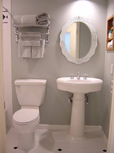 I'd love this for my powder room, but not enough storage for the family bath.