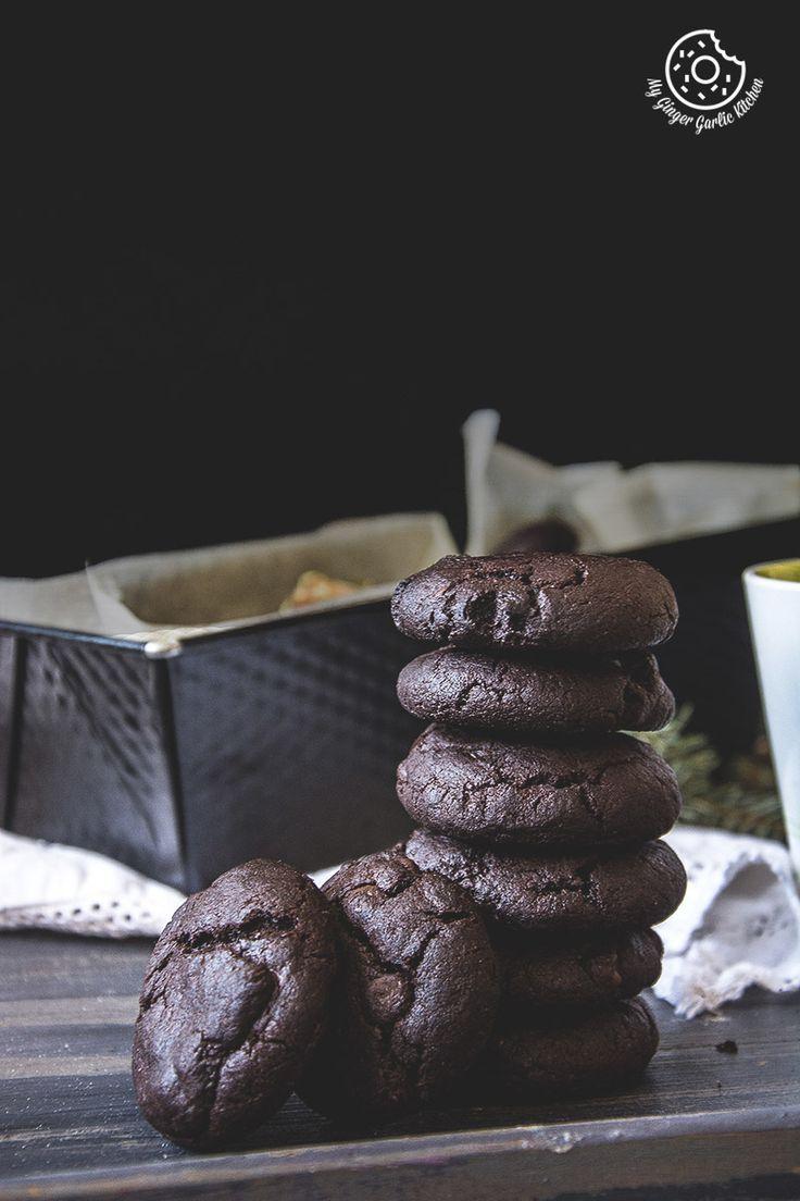Eggless Triple Chocolate Cookies   mygingergarlickitchen.com/ @anupama_dreams
