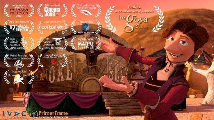 'El Vendedor de Humo' cortometraje de Animación realizado íntegramente por los alumnos de www.PrimerFrame.com