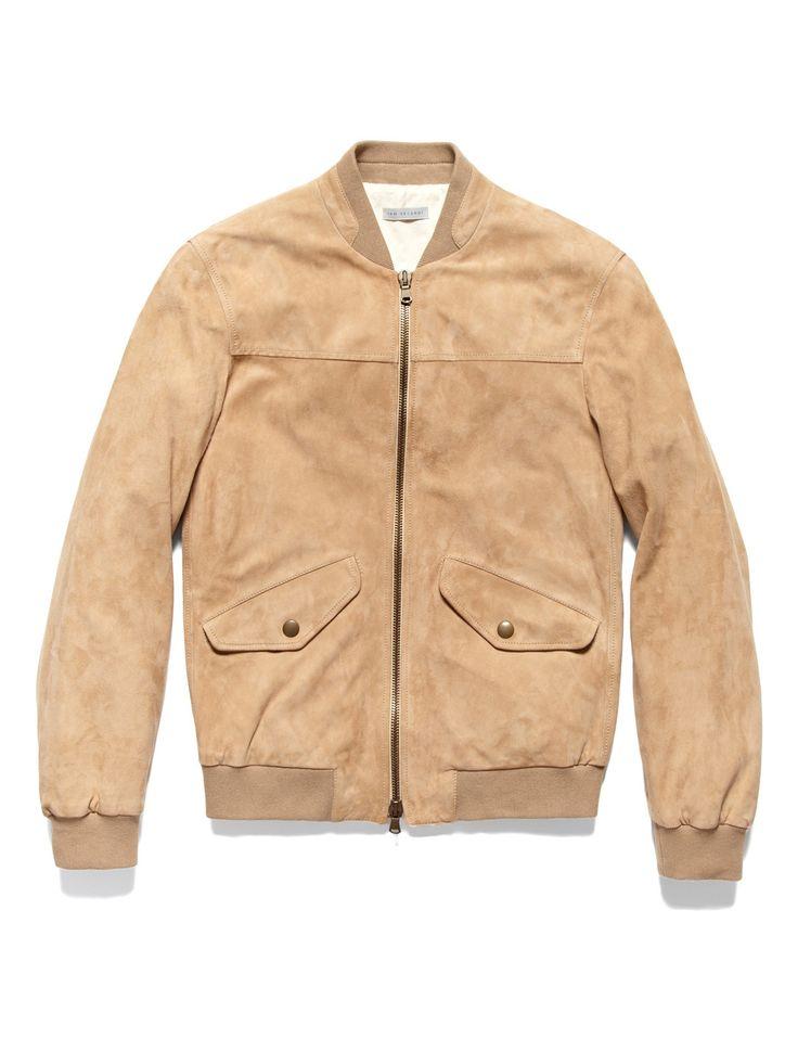 suede bomber jacket ++ ian velardi