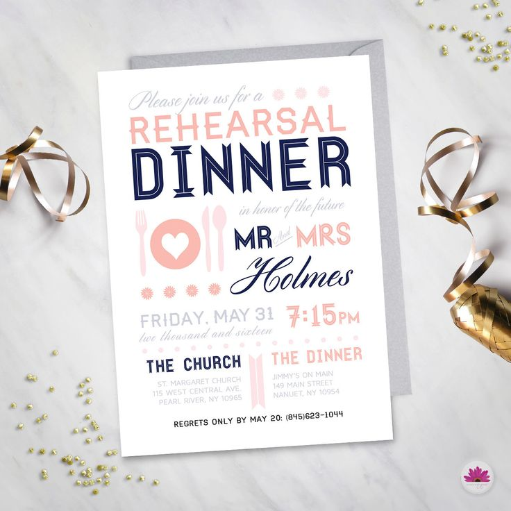 Modern Rehearsal Dinner Invitation (Digital file) by EventswithGrace on Etsy https://www.etsy.com/listing/129495826/modern-rehearsal-dinner-invitation