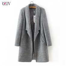 2016 пальто женское зимнее пальто женщин тонкий костюм воротник с стиль soild шерстяное пальто женский(China (Mainland))