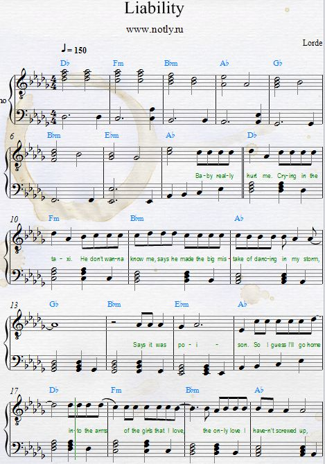 Learn to be lonely piano sheet