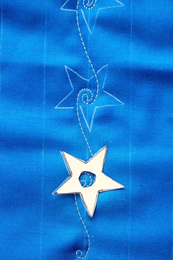 Swirling Stars, Free Motion Quilting Tutorial