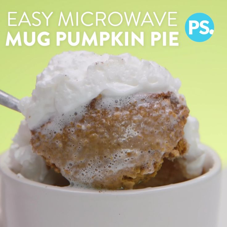 Love pumpkin pie but don't want to bake a whole pie? We have the perfect hack for you. Whip up this pie in a mug with virtually no clean-up. It takes less than five minutes to microwave and it's absolutely worth it!