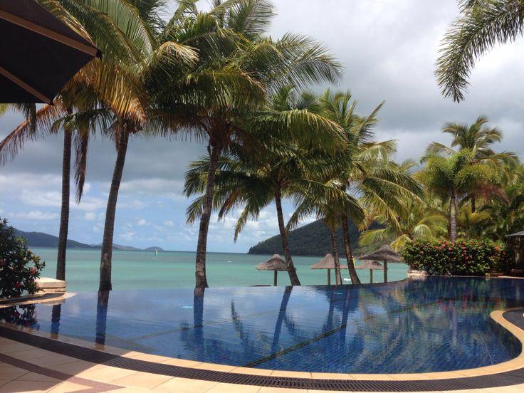 Tropical island holiday, beautiful hotel pools, Hamilton Island, Queensland, Australia