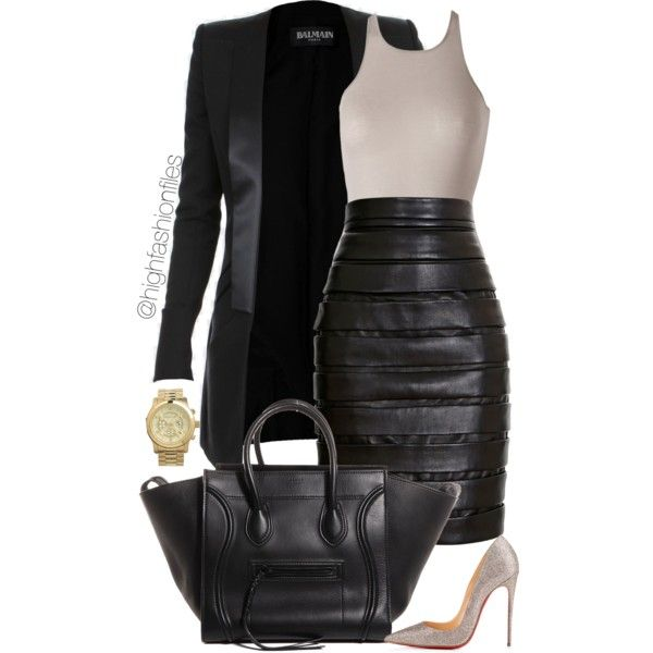 Making Moments by highfashionfiles on Polyvore featuring Rick Owens, Balmain, Christian Louboutin and MICHAEL Michael Kors
