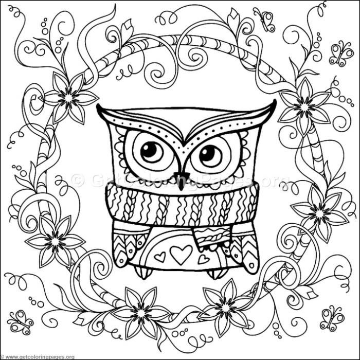 Free Instant Download Zentangle Christmas Owl Coloring Pages Coloring Coloringbook Coloringpages Ze Owl Coloring Pages Animal Coloring Pages Coloring Pages