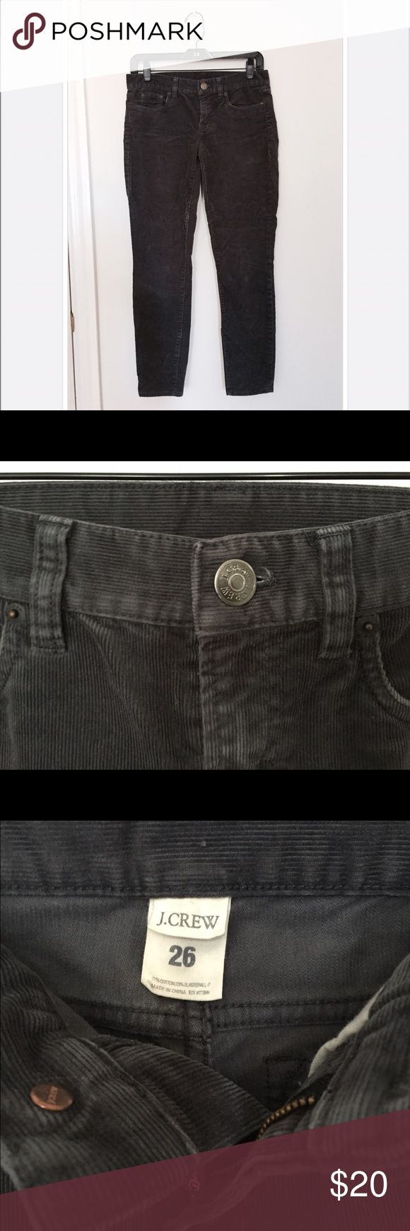 J Crew Women's Slim Cord Pants Size 26 J Crew slim fit women's cord pants size 26. These are a slightly distressed blue green gray tone. J. Crew Pants Ankle & Cropped