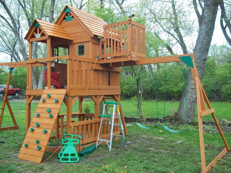 Sky Fort Swing Set Backyard Fort Backyard For Kids