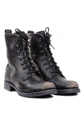 Frye Veronica Combat Boot Black Frye