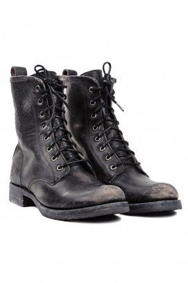 A little weird that I want these, but they seem like a really good basic to have forever? Frye Veronica Combat Boot Black Frye