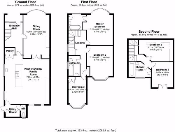 3 bed house floor plan rear extension google search for Semi detached house plans