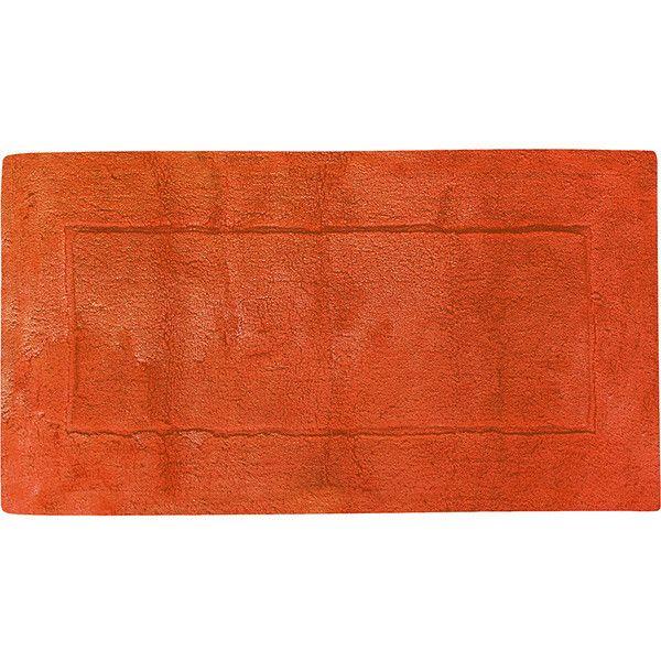 Abyss & Habidecor Must Bath Mat - 605 - 70x120cm ($223) ❤ liked on Polyvore featuring home, bed & bath, bath, bath rugs, orange, orange bath mat and orange bathroom rugs
