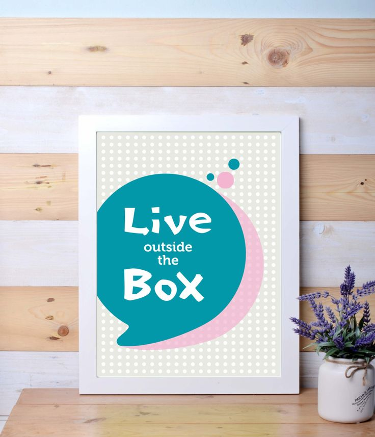 Live outside the box, printable poster, wall art, wall decor, quotes by LanternLife on Etsy