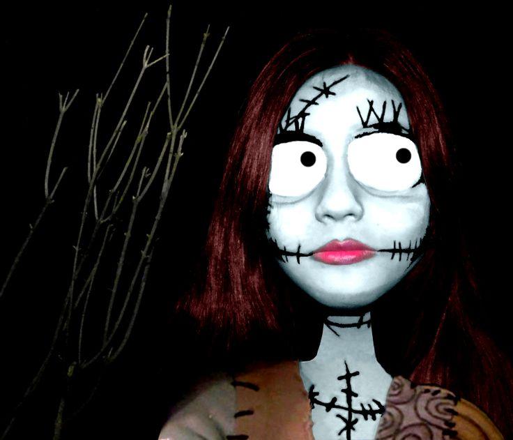 maquillaje fantasia sally el extraño mundo de jack