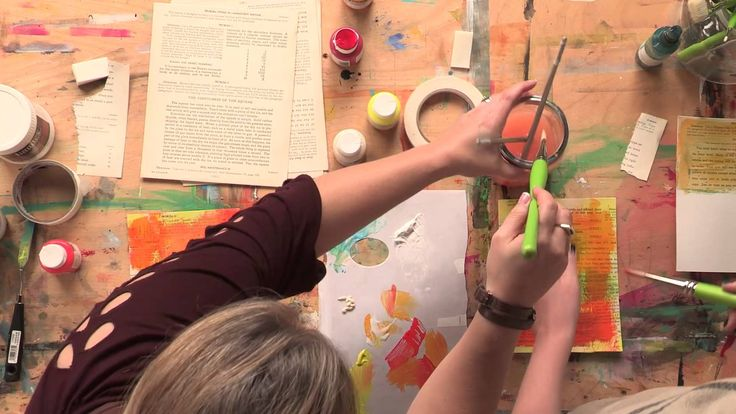 Create Colorful Backgrounds for Art Journal Pages