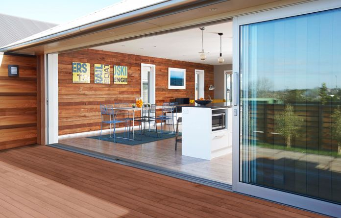The Eurostacker® sliding door is the ultimate in discreet home styling, Rylock