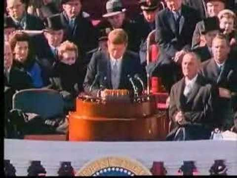 Part 2 of JFK's Inaugural Address.