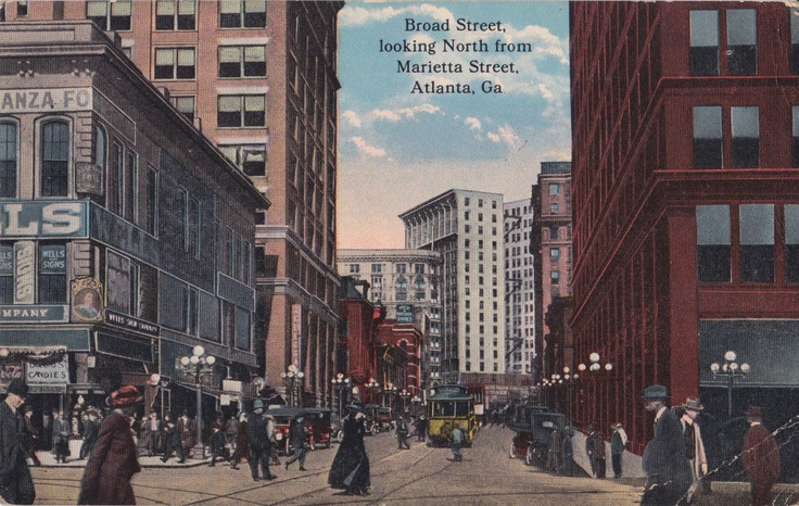 Downtown Atlanta, ca 1920, from my collection of vintage Atlanta postcards