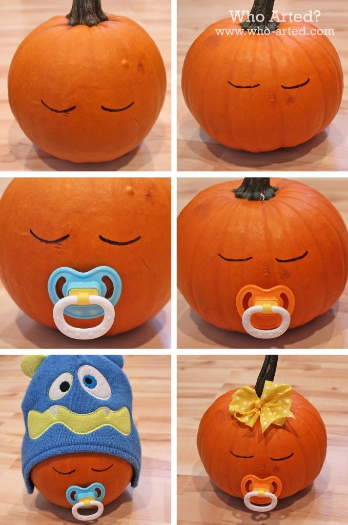 diy sleeping baby pumpkin halloween halloween decorations halloween ideas halloween pumpkins halloween crafts for kids - Halloween Decorations Pumpkins
