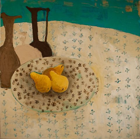 """""""Still Life"""" by Sayeh Irankhah. 24 x 24. Available at Queen Gallery, 382 Queen Street East, Toronto."""