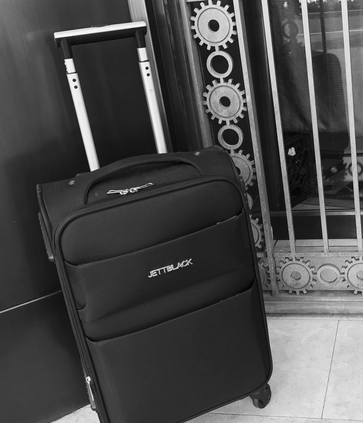 Airport Style - Raven Black Carry On Suitcase by Jett Black