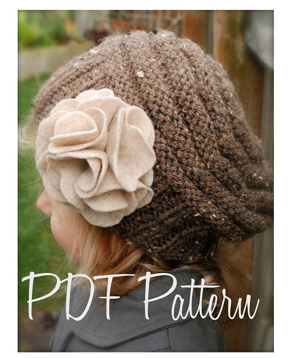 Knitting PATTERN-The Lilian Beret Toddler Child by Thevelvetacorn