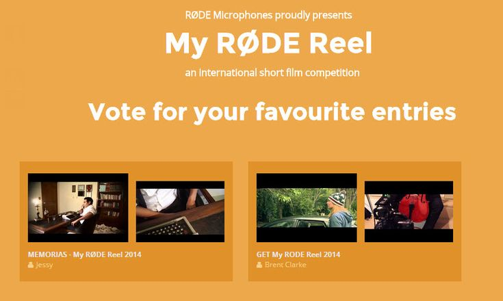 My RØDE Reel Now the World's Largest Short Film Competition - http://blog.planet5d.com/2014/06/my-rode-reel-now-the-worlds-largest-short-film-competition/