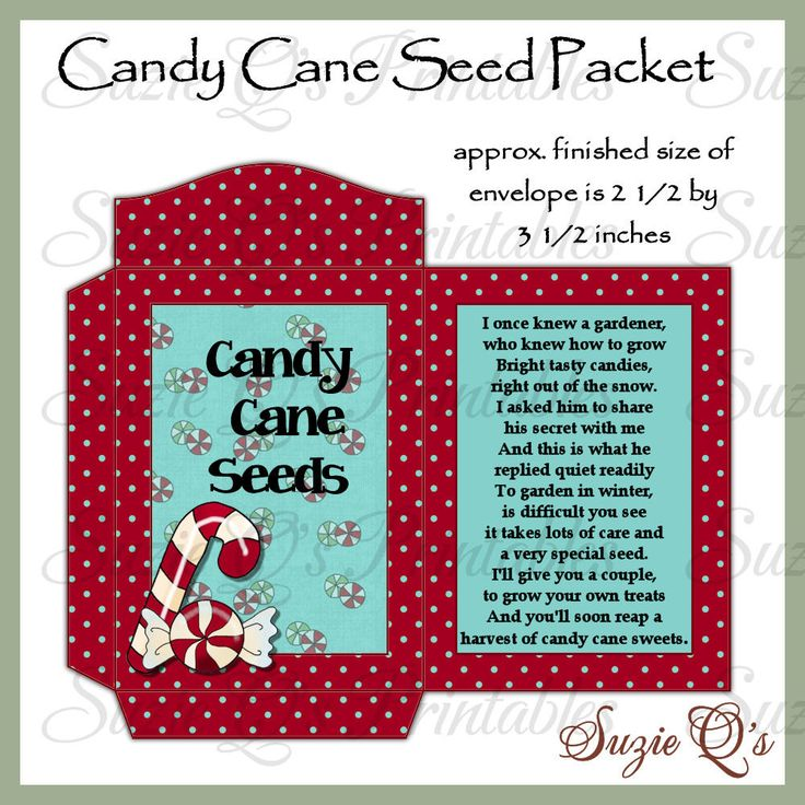 Candy Cane Seeds Packet - US and International Sizes ...