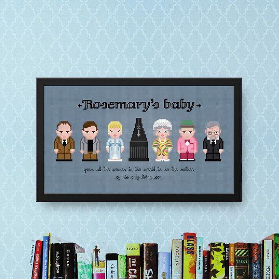 Rosemary's Baby Cross Stitch Pattern  Horror Cross Stitch