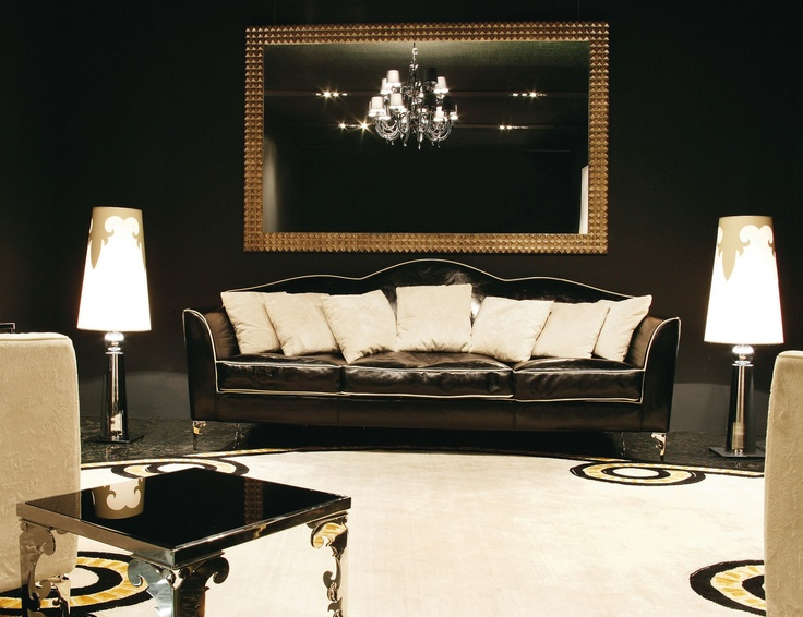 Best Golden Glamour Images On Pinterest Luxury Bedrooms - Black and gold living room