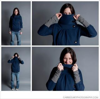 Fitted Cowl neck sweater for Nursing Moms by Toadinatree on Etsy, $102.00