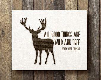 Henry David Thoreau Quote Printable 8x10 Burlap Print