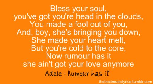 adele...my new favorite artist