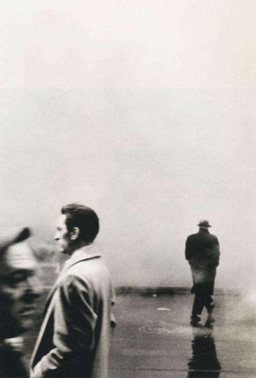 Steve Schapiro - Three Men, New York, 1961. Incredible perspective.