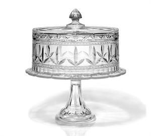 A crystal cake stand makes the most elegant centerpiece for your tea table from a simple cake plate to an eye catching pedestal cake dome.  sc 1 st  Pinterest & 156 best Crystal images on Pinterest | Waterford crystal Crystal ...