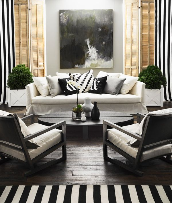 Black And White Living Room With Yellow Accents: Outdoor Living