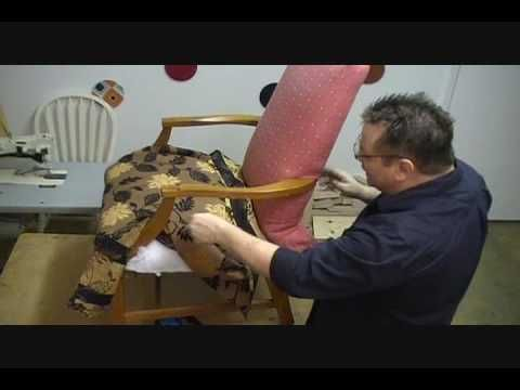 How to upholster a chair - very helpful!