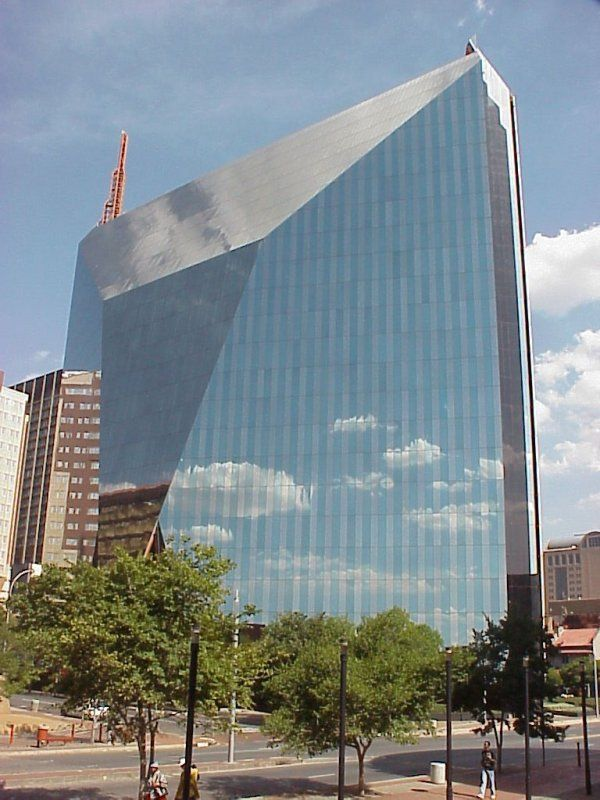 #Travel: 11 Diagonal Street, a unique building in #Johannesburg CBD resembling a multi-faceted diamond designed by architect Helmut Jahn.