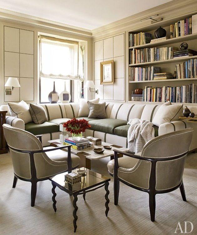 layout, bookshelves, relaxed sheer roman