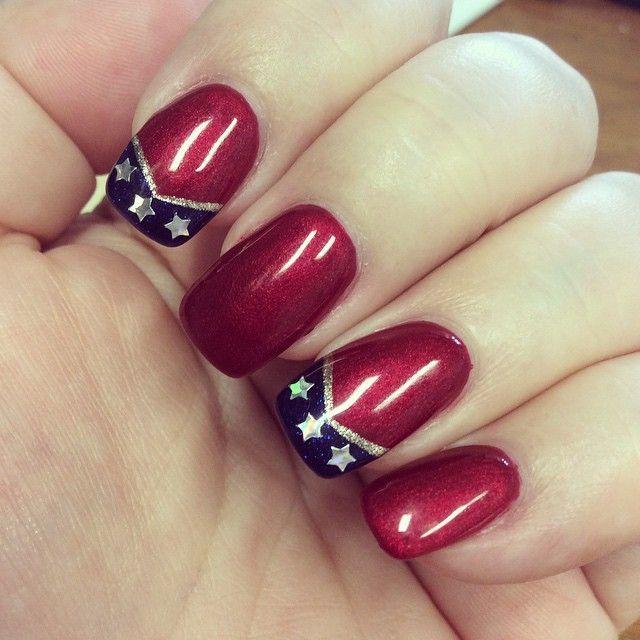 Kinda lovin' my #wonderwoman #nails yes I'm a #dc #comic #fan #WonderWoman #Wonder_Woman #sparkletart